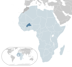 map of Burkina